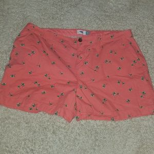 Old Navy Shorts | Coral Palm Tree Print | Size 16